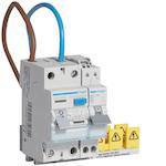Hager VKS01Combi Aardlekschakelaar CDA540G en InstallatieAutomaat MKS516