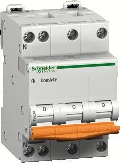 Schneider Installatie Automaat 3P + N 16A B-kar 19193