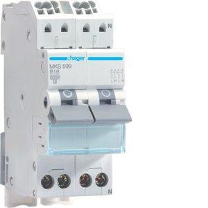 Hager VKS03SF FornuisGroep Automaat MKS599 2P+2N B16
