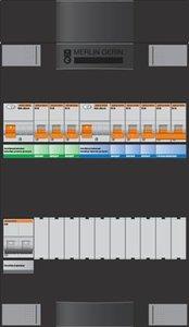 Groepenkast Schneider 1 Fase 6 Groepen + KookGroep ADVG23234FH1