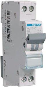 Hager Installatie Automaat C6 MJN506