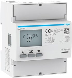 Hager kWh-meter ECP380D
