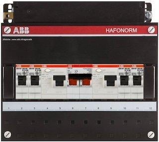 Groepenkast ABB HAF 1 Fase 4 Groepen Renovatie