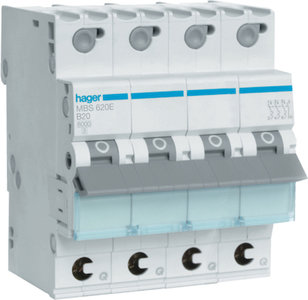 MBS620E Hager InstallatieAutomaat 3P+N B20