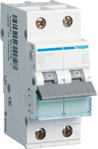 Hager InstallatieAutomaat 1P+N C2 MCN502